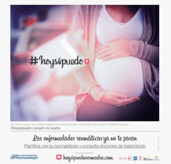 """Campaña """"hoy sí puedo"""" sobre enfermedades reumáticas y embarazo"""