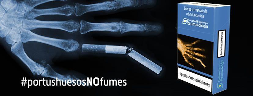 """Campaña de sensibilización """"Por tus huesos, no fumes"""""""